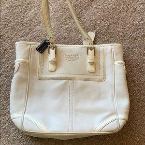 Coach leather tote purse